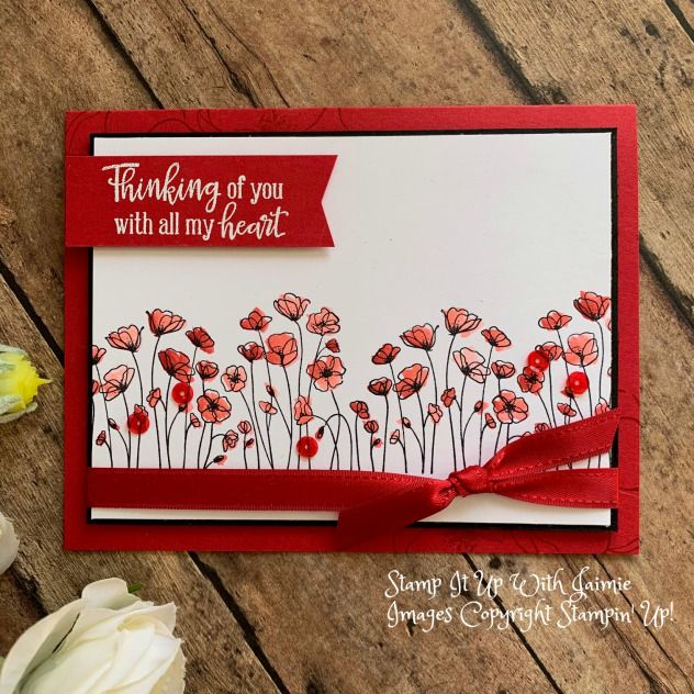 Stampin Up Painted Poppies Video Tutorial Stamp It Up With Jaimie Poppy Cards Stampin Up Cards Stamping Up Cards