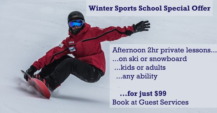 Special Deal at the Winter Sports School  Posted: 18th Jan 2015