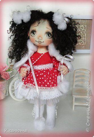 Куколки текстильные. Ростик 35-40 см. сшиты их хлопка, волосики-овечья шерсть, приваляны. фото 7