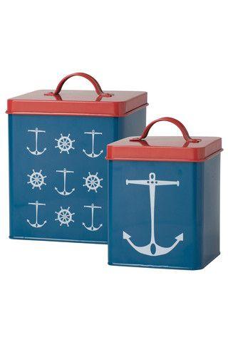 Nautical Kitchen Tin Set