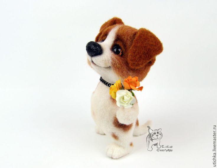 Купить Монморанси. - комбинированный, щенок, собачка, собака, джек рассел терьер, Валяние, валяная игрушка