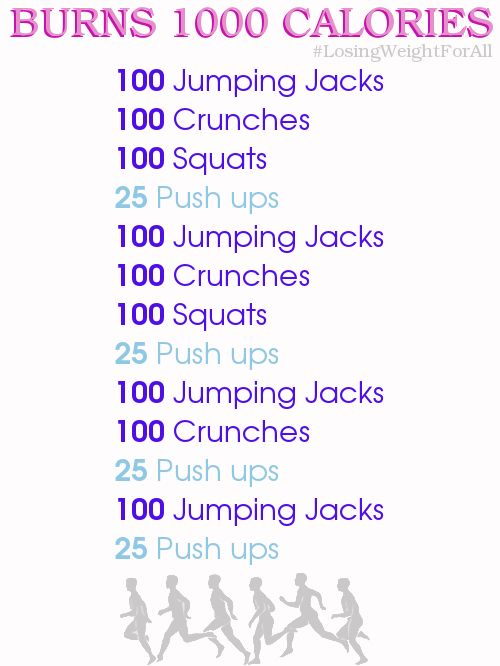 Workouts I will be doing in order to reach my 1000 plus calorie burn a day for this week.Please understand, that this will be apart of my daily exercise, this will not be the only exercise I complete a day.