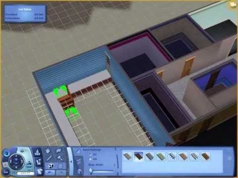 Sims 3: How to attach a garage to a foundation WITHOUT cheats- Tutorial - YouTube