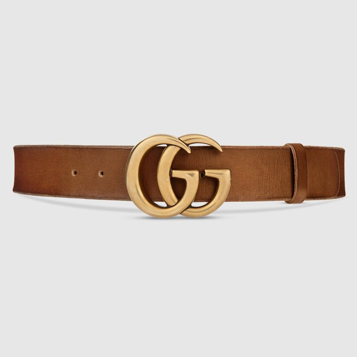 Gucci Women - Gucci Brown Leather belt with double G buckle - $420.00
