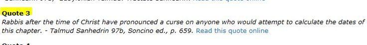 Talmudic curse on Daniel 9:24-27 | http://amazingdiscoveries.org/AD-Header-Downloads-References-RabbinicCurse