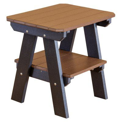 Outdoor Little Cottage Heritage 2 Tier Adirondack End Table - LCC-120-CHERRYWOOD, Durable