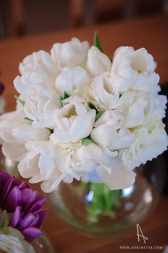 Bridal bouquet - white tulips