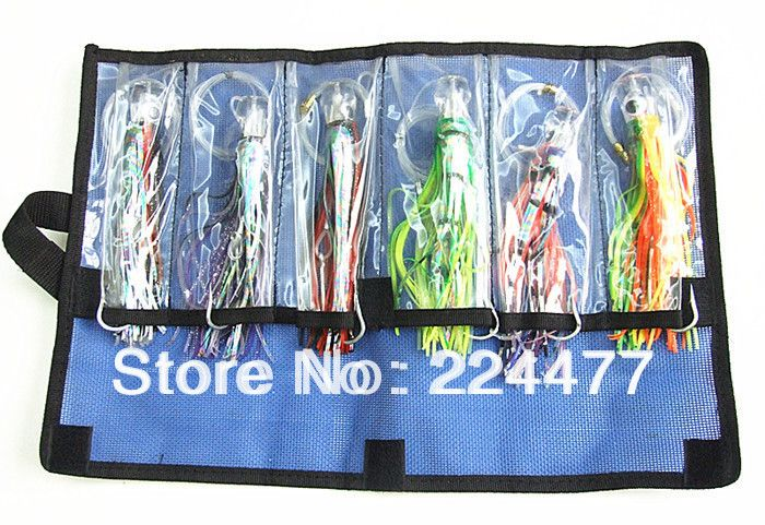 Free Shipping-5.5 inch Octopus Lure Double Octopus Skirt Resin Head With Hook Line Fishing Tackle Suit Cheap Fishing Package