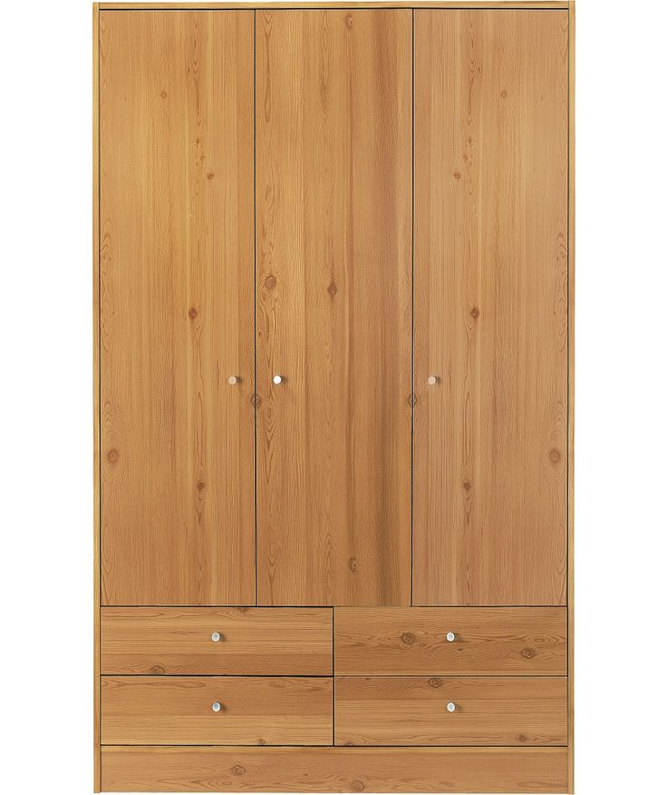 Buy New Malibu 3 Door 4 Drawer Wardrobe - Pine Effect at Argos.co.uk - Your Online Shop for Wardrobes.