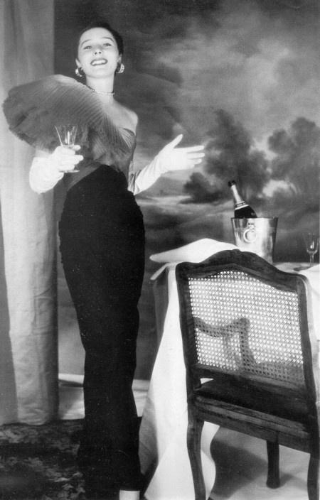 Bettina-Henry-Clarke--wearing-Jacques-Fath-1950