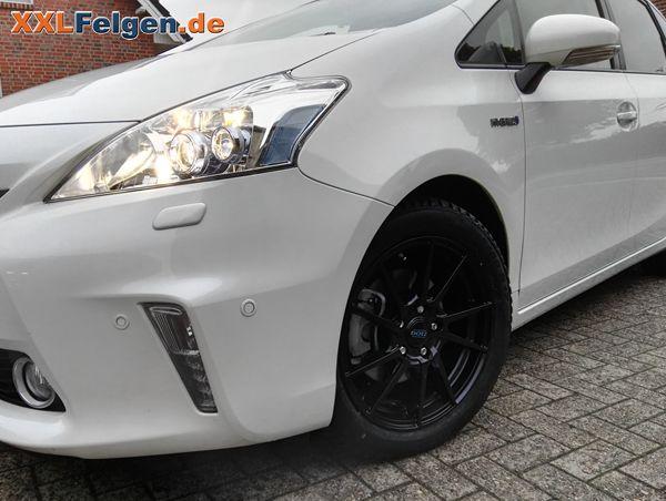 Dotz Kendo dark Felgen in 17 Zoll auf einem Toyota Prius + Richtig geile Winterfelgen!