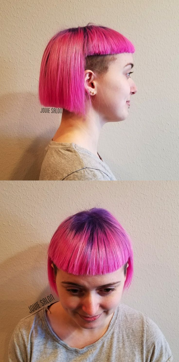 Candy Mountain hair color created using the Goldwell Elumen fashion shades!