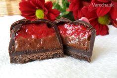 strawberry-chocolate pralines