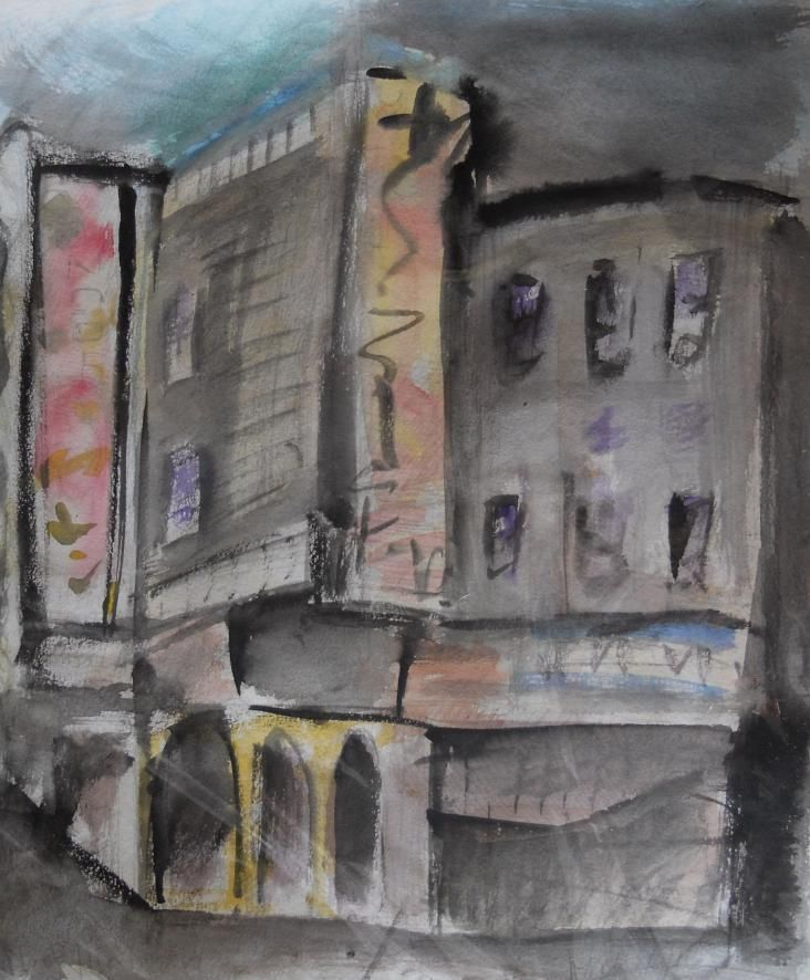 san francisco carol doda big al's strip club  -  watercolor