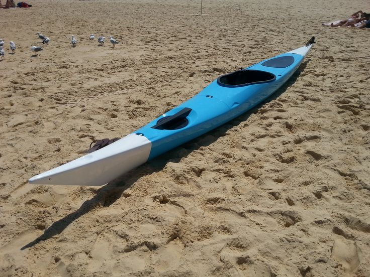 Switchblade sectional sea kayak assembled and ready to go.