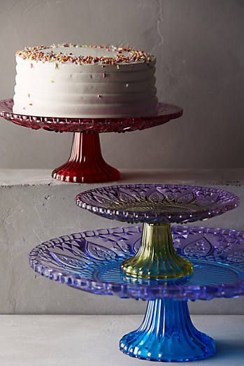 Color-Cut Cake Stand love the luminescence of them - Heather Scott