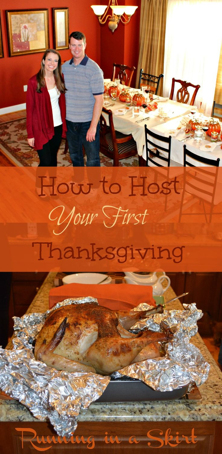 Tips and tricks for hosting Thanksgiving for the first time.  Includes a checklist of what needs to get done starting weeks in advance.  Also good advice on figuring out what to cook! / Running in a Skirt