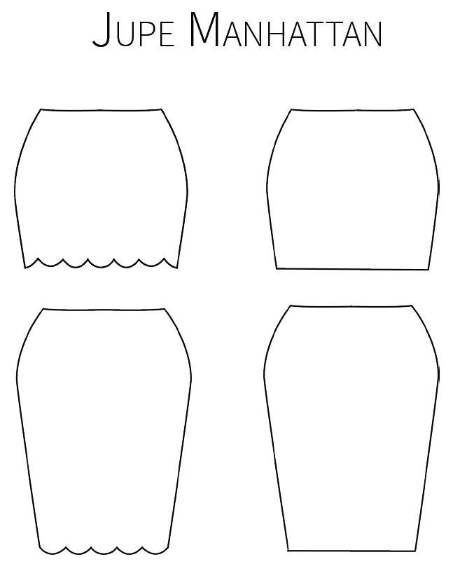 Jupe Manhanttan - Patron PDF gratuit  Manhanttan Skirt - free PDF pattern