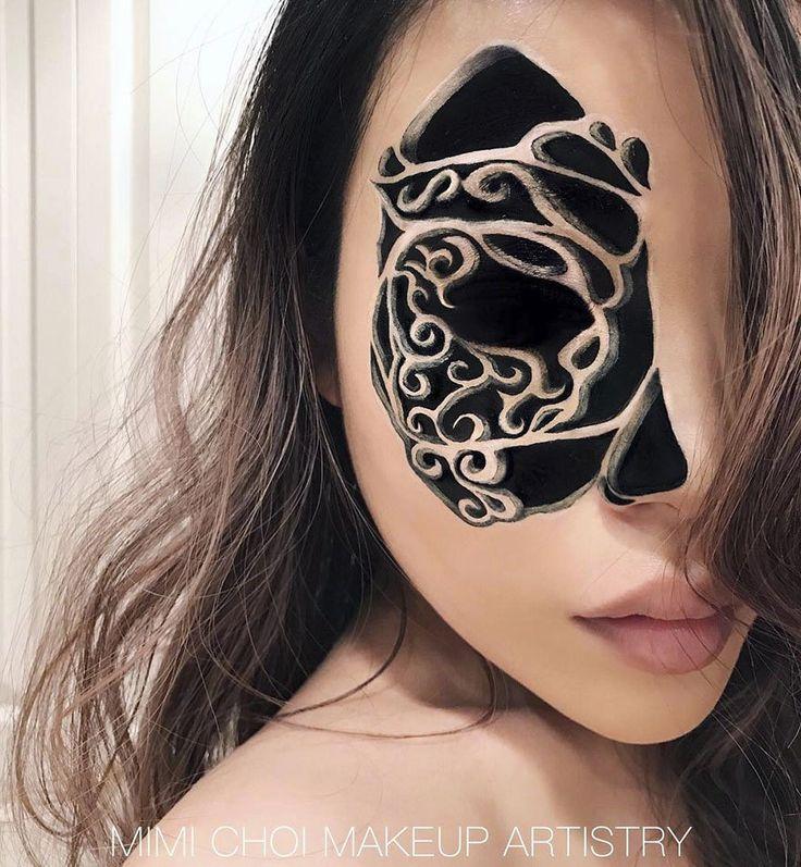 chica maquillaje ilusión óptica tenebroso