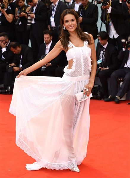 "Alessandra Ambrosio attends the ""Everest"" film premiere at the opening night of 72nd Venice Film Festival  on Sept. 2, 2015."
