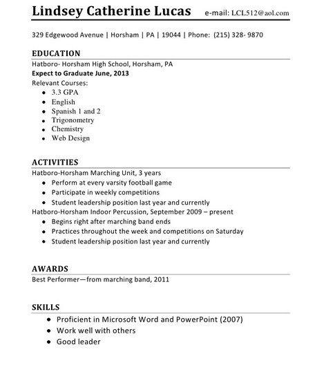 461 best Job Resume Samples images on Pinterest Resume templates - resume template for first job
