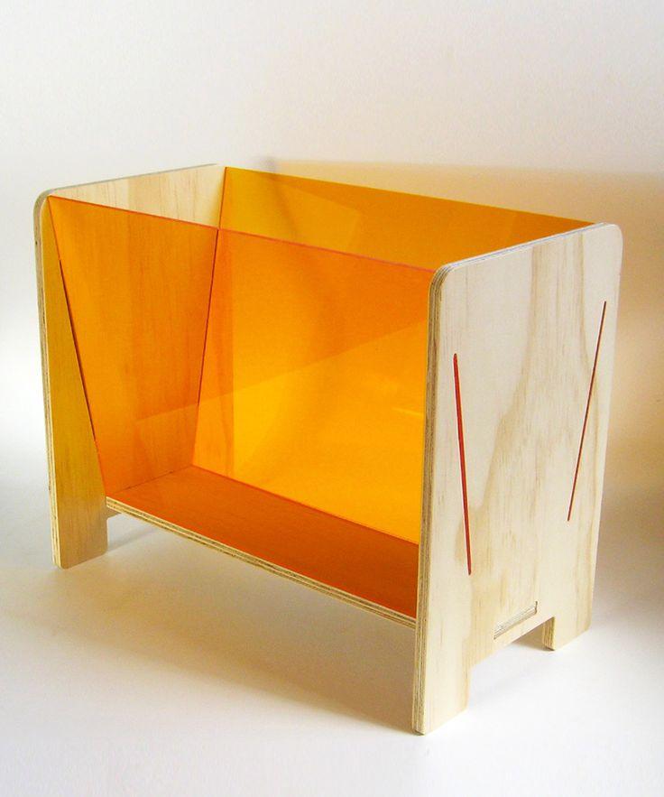 New Zealand plywood Magazine Rack #organize #natural #simplicity