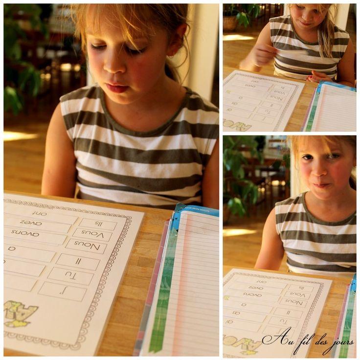 Au fil des jours: Début de l'apprentissage des conjugaisons