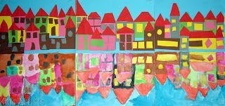 Kids Artists: City waterfront