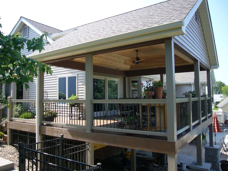 Image result for covered deck lighting ideas