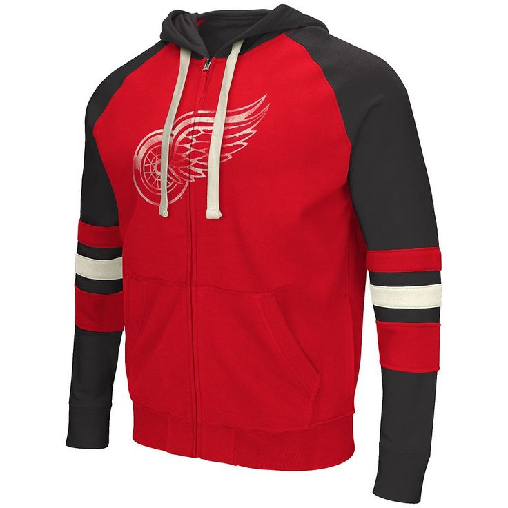 Men's Detroit Red Wings Shooter Full-Zip Hoodie, Size: Medium, Ovrfl Oth