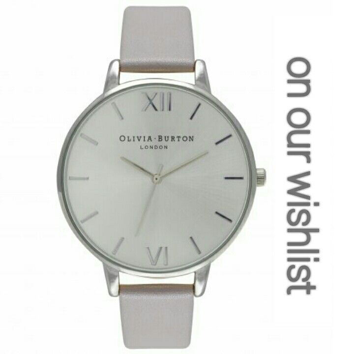silver face Olivia Burton vintage inspired watch