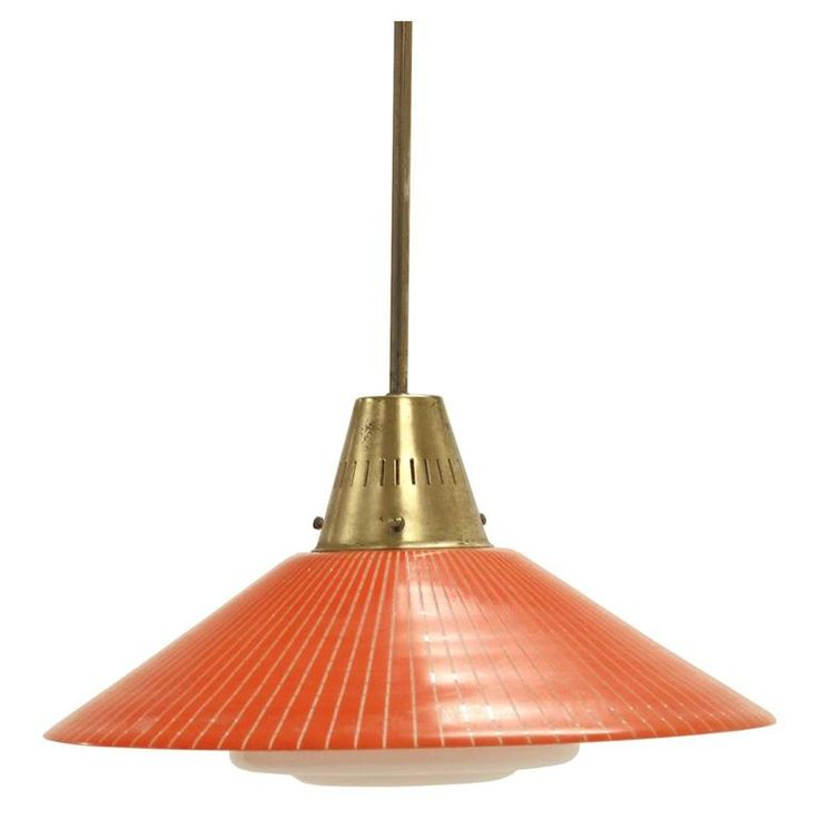 Scandinavian Mid-Century Ceiling Light by Tr