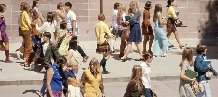 What American high school students dressed like in 1969.When I was 10 and in the fifth grade, these are what the older kids looked like.