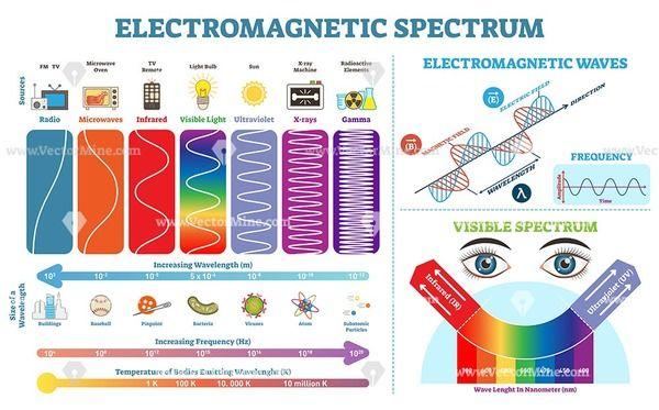 Electromagnetic Spectrum Infographic Diagrams Collection Electromagnetic Spectrum Infographic Spectrum