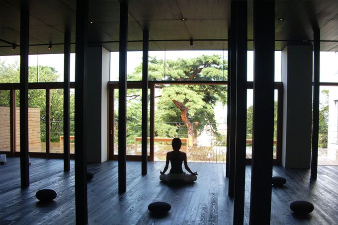 Ishikawa Beniya Mukayu zen meditation - Luxury Travel to Japan luxurytraveltojapan.com #japantravel #Beniyamukayu #onsen