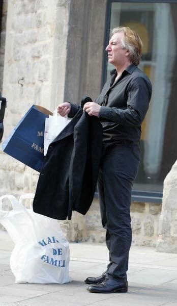 August 2, 2004 - Alan on a shopping excursion in the Notting Hill district of London during which he shopped at shopped at Maison de Famille.