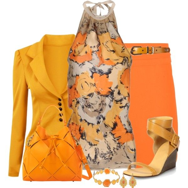 Farb-und Stilberatung mit www.farben-reich.com - Orange Skirt 2, created by daiscat on Polyvore