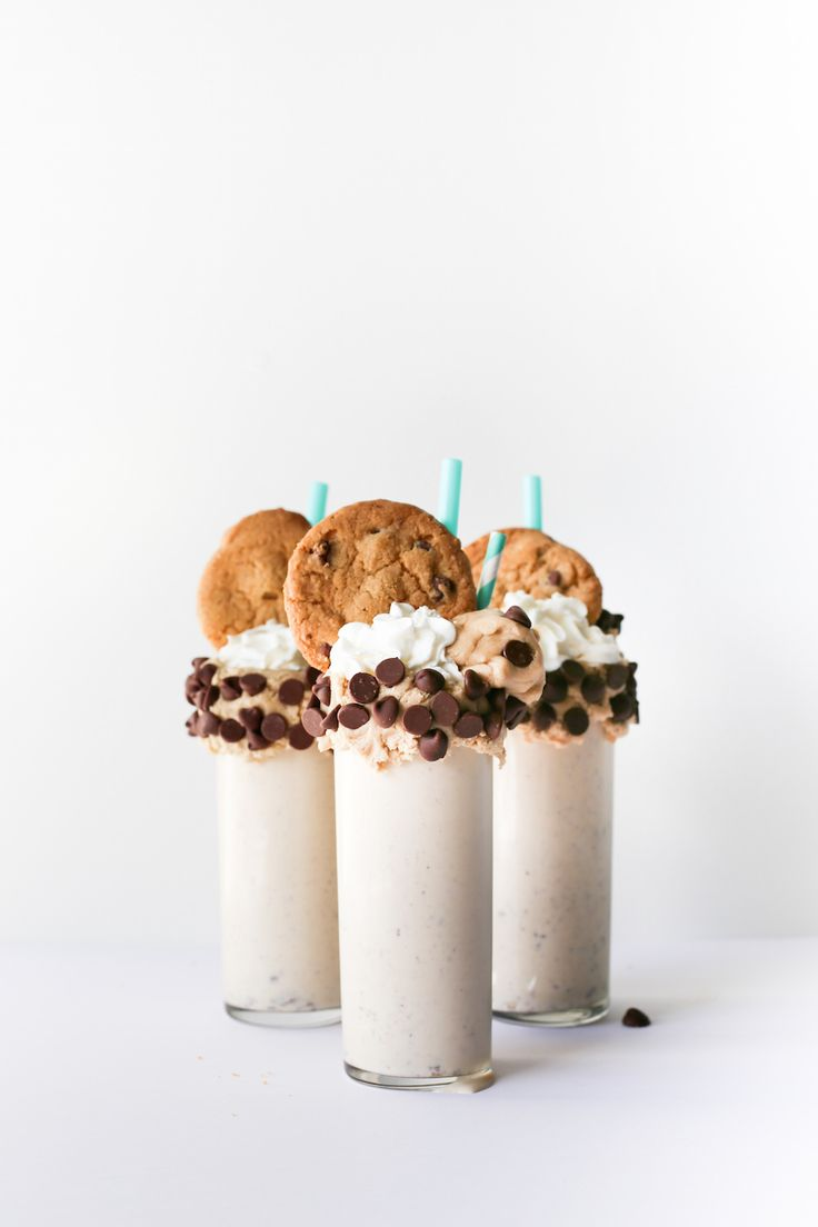 ~ Chocolate Chip Cookie Dough Milkshake ~