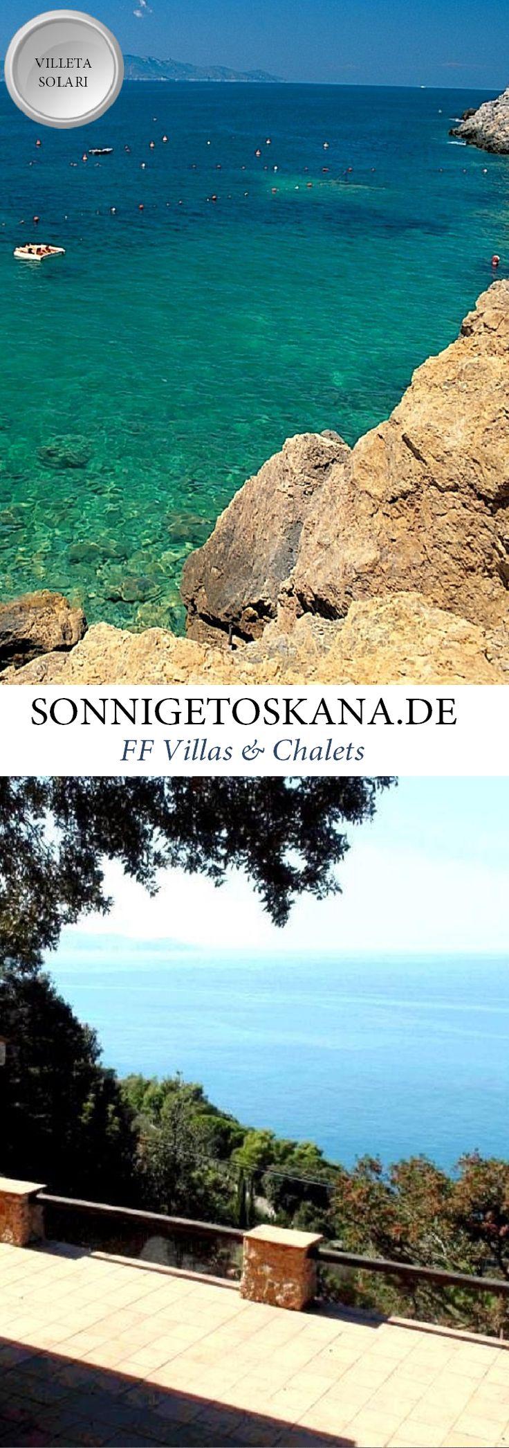 www.sonnigetoskana.de || Villeta Solari || Italien - Toskana || Die Villetta Solari liegt im Argentario, etwa 6 Kilometer von Porto Santo Stefano entfernt.  Das Haus liegt sehr privat, hat ein schöne Terrasse und bietet einen traumhaften Blick auf das Meer. 2 Schlafzimmer, 6 Personen, Meerblick. #Toskana #Ferienhaus #Casalio #Urlaub #Reisen #Villa #SonnigeToskana #Luxus