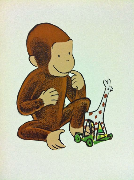 priceabatedeals New Giant CURIOUS GEORGE WALL DECALS Kids Room ...