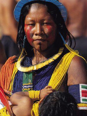 Maman Kayapo d'Amazonie