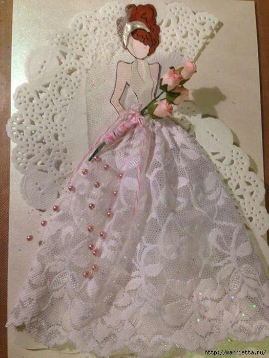 Платье открытка мк