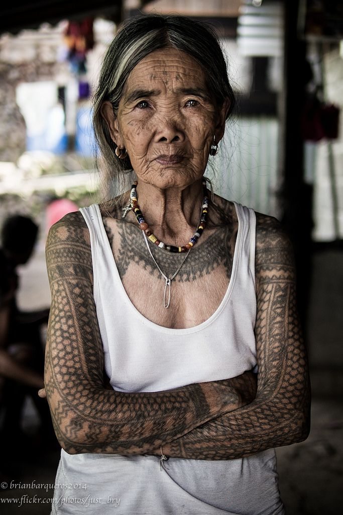 Whang Od, of the Butbut tribe. 90-something years old. The last mambabatok.
