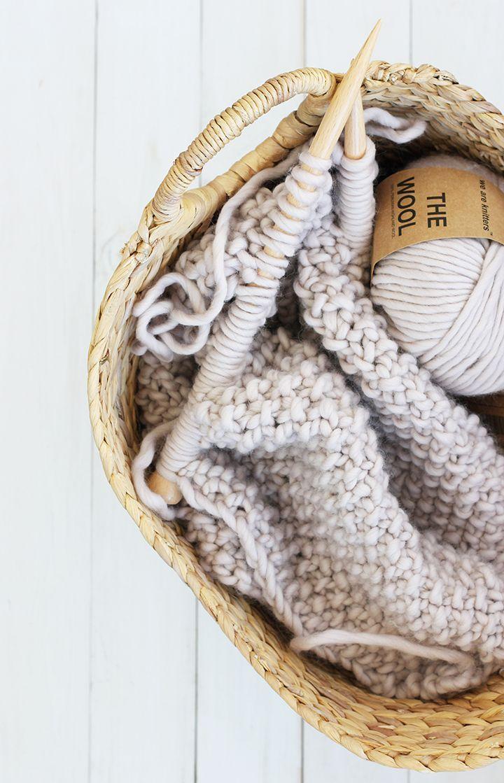 diy knit wool blanket