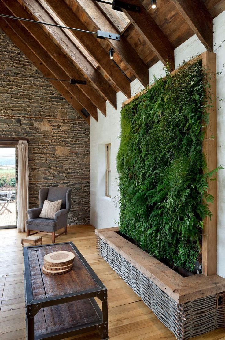 Livewall green wall system make conferences more comfortable - Now Here Is An Idea For The Wall You Face From The Entryway Do A Skylight In The Hallway And Then A Living Wall To Accommodate Many Of Your Plants