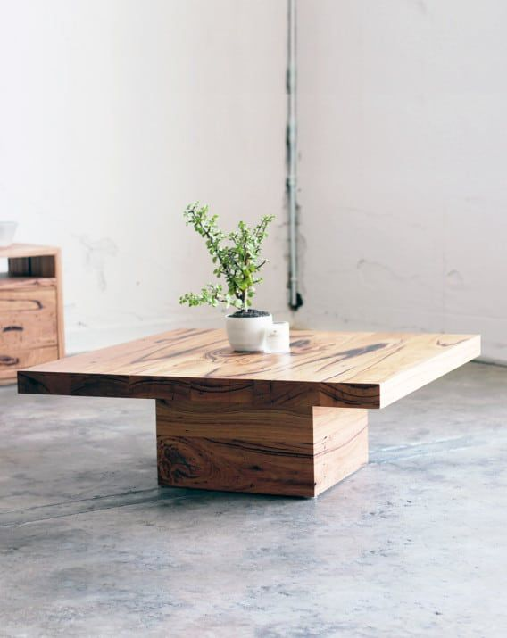 Chunky Butt Coffee Table - Recycled Timber Furniture Melbourne, Yard Furniture                                                                                                                                                                                 More