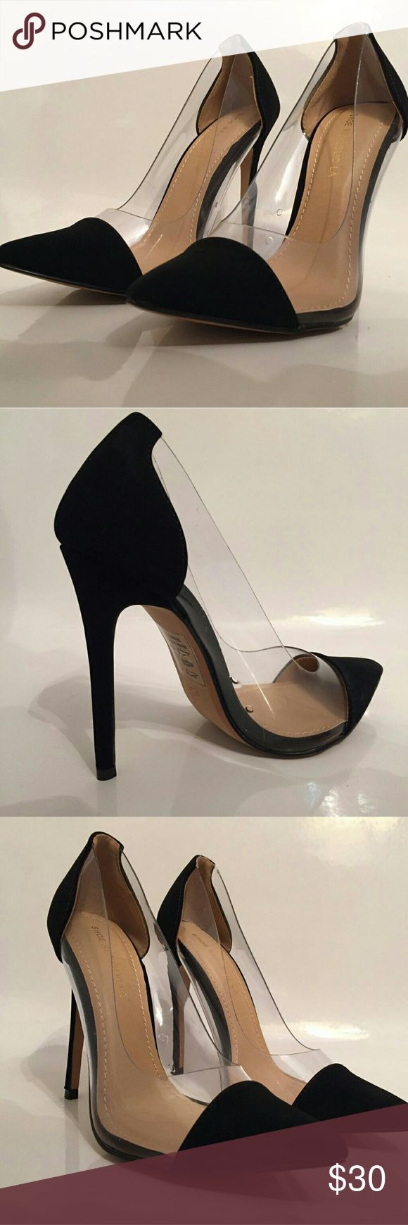 Black and clear high heels New super comfortable Black and clear heels, perfect for a night out, work meeting, romantic or business lunch. Shoes Heels