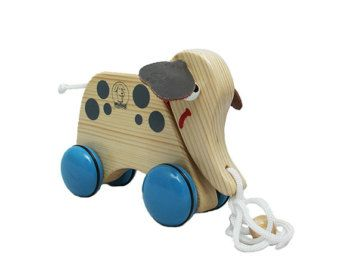 Wooden Pull Along Toy  Dog