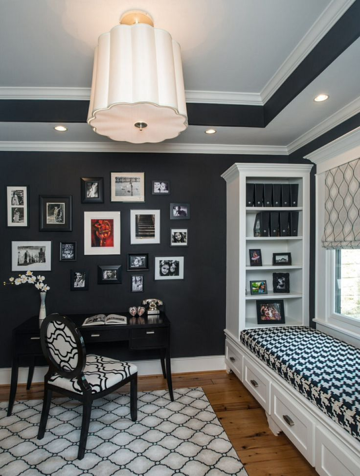 Traditional Urban Elegance Black and White Home