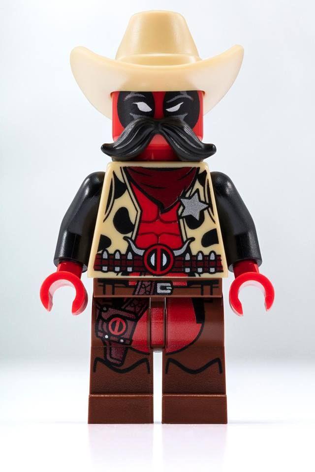 Deadpool Cowboy Marvel Comics Lego Moc Minifigure Gift Toys